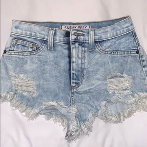 Nasty gal Sneak Peak Denim Shorts